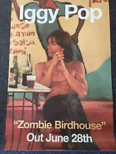 IGGY POP - Rare Promo Poster - ZOMBIE BIRDHOUSE - OFFICIAL RECORD COMPANY ISSUE