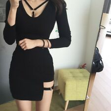 Style Black Package Hip Skirts Gap Irregular Hem Pencil Micro Mini Skirt Korean