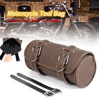 Motorcycle Front Side Saddle Tool Bag Luggage Pannier Roll Barrel Storage