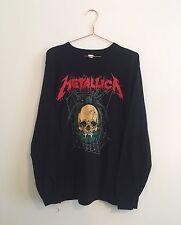 Vintage à manches longues metallica metal rock band t-shirt l