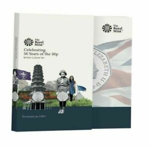 2019 50 Years of the 50p Uncirculated BUNC Kew Gardens Fifty Pence Coin Set.