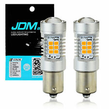 JDM ASTAR 2x Amber Yellow 1156 BA15S Turn Signal Corner Light 21 SMD LED Bulbs