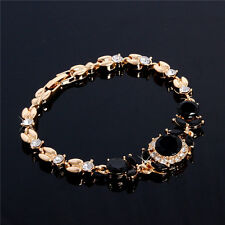 Fashion 18K Gold Plated Elegant Austrian Crystal Chain Bracelet Bangle Cuff New