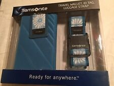 Samsonite Travel Wallet, ID Tag, and Luggage Strap NEW IN BOX