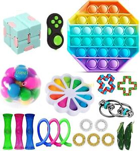 Fidget Toy Packs with Simples Dimples Pop Bubble DNA Stress Relive Balls for ADH