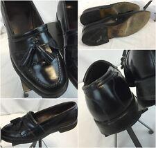 "Allen Edmonds Dress Shoes 8 E Black Slip On Kiltie Tassels ""Newport"" EUC YGI G8"