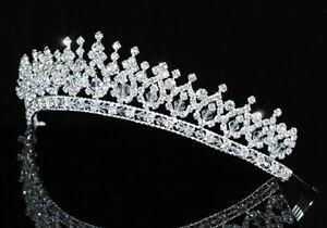 Bridal Wedding Pageant Sparkling Handmade Tiara use Austrian Crystal AT1543
