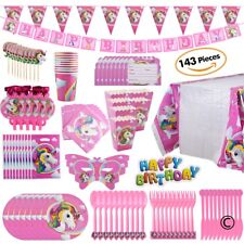 US ONLY! Unicorn Birthday Party Set for Girls Serve 10