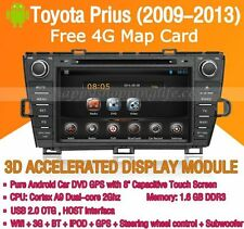 Android In Dash Car DVD Radio GPS Navigation WIFI 3G for Toyota Prius 2009-2013