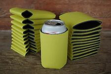 LOT of 100 YELLOW Can  Blank Beer Soda Coolers 12 oz Printable