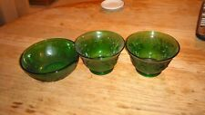 Lot of 5 Vintage Forest Green Sandwich Glass Pieces by Anchor Hocking