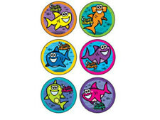 25 Cutie Shark STICKERS Party Favors Supplies Birthday Treat Loot Bags baby