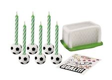 Soccer 14 pc. Cake Top Candle Set from Wilton  #8421 - NEW