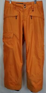 Patagonia Mens Ski Snowboard Snowshot Pants Size Medium Orange Snow Winter