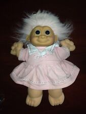 Russ Schoolgirl Plush 13 Inch Troll Doll In Pink Dress With Pink Hat