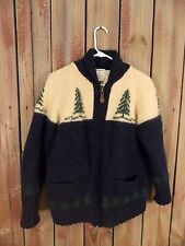 Eddie Bauer Cardigan Sweater 100% Wool  Zippered Long Sleeve Women's Size M