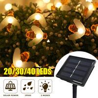 20/30/40 LEDs Luce Solare della Stringa Ape Decorazione Giardino Festa Outdoor