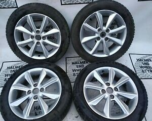 """16"""" FORD FIESTA SET OF GENUINE ALLOY WHEELS WITH WINTER TYRES"""