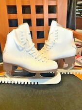 Figure Ice Skates Glacier by Jackson 520 White for Women Size 5 w/ Blade Covers