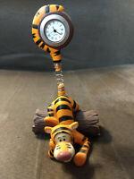Walt Disney Tigger Desktop Mini Clock Figuring 5 x 3 Inches