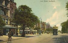 Southport,U.K.Lord Street, Trolley Car,Merseyside,Used,1907