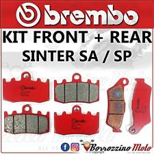 BRAKE PADS KIT BREMBO SINTER FRONT + REAR BMW R 1200 GS ABS 2008-2012
