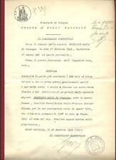 Comune Borgo Panigale Loc. Casteldebole Fraz. Medola Rigosa - Abitabilità 1929