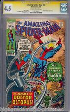 AMAZING SPIDER-MAN #88 CGC 4.5 OWW SS SIG SERIES STAN LEE CGC #1197729015