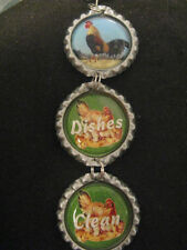 Roosters & Chickens Country Dishwasher Clean/Dirty Ornament ~ **Gift Idea