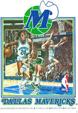 DALLAS MAVERICKS OCTOBER 15,1981 PROGRAM VS PHILADELPHIA 76'ers