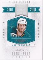 10-11 Dominion Joe Thornton /99 Jersey All Decade Sharks 2010