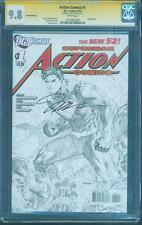 Superman Action Comics 1 CGC SS 9.8 Jim Lee Sketch Variant Signed 4th Print