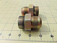 "1"" Parker Steel JIC Male Adapter W/ O Ring & 1"" NPT Straight Thread Base Qty: 2"