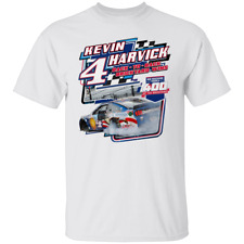 Men's Kevin Harvick Checkered Flag 2020 Short Sleeve White T-Shirt S-5XL