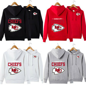 Kansas City Chiefs Hoodies Football Hooded Sweatshirt Men Casual Jacket Pullover