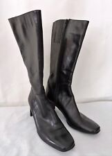 "Vaneli Women Black Knee High Boots Size 7.5 N Leather Upper 2.5"" Heel"