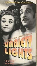 Variety Lights (VHS TAPE) FEDERICO FELLINI'S DIRECTORIAL DEBUT HTF