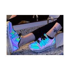 YRU AIIRE REFLECTIVE SNEAKERS Rainbow Holographic Oil Slick Womens Size 9 Y.R.U.