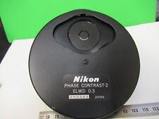Nikon Fase Contraste -2 Elwd 0.3 Condensador Microscopio Parte como en la Imagen