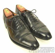 JOHN LOBB Lanston Black Leather Cap Toe Oxford Dress Shoes - UK 8.5 / US 9.5