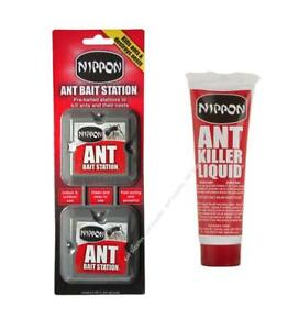 Nippon Ant Killer Bait Station Liquid Nest Trap Stop Ants Colony Pre Baited