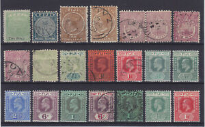 FIJI 1879-1922, 21 STAMPS, MINT & USED