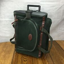 "Orvis Batterkill Wheeled CarryOn Luggage 22""x14""x8"" Green Canvas/Leather Quality"