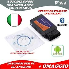OBD2 DIAGNOSI AUTO SCANNER DTC MOTORE V2.1 OBD II BLUETOOTH ANDROID UNIVERSALE