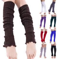 Paire Femme Chaud Chaussettes Long Jambière Guêtre Botte Leggings Crochet Tricot