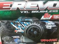 Traxxas 86086-4 E-Revo VXL 2.0 RTR 4WD Electric Monster Truck Blue Brand New!!