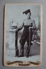 Photo Alger Militaire Cdv Carte de Visite Vers 1880