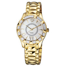 Gv2 By Gevril Women's 11712-525 Venice MOP Dial Gold IP Diamand Watch