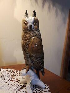Vintage Karl Ens Porcelain Long Eared Owl Germany