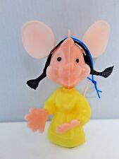 Vintage 1960s Topo Gigio Toy Italian Mouse Carnival Fair Prize Girlfriend Charm